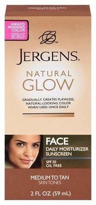 Jergens Natural Glow Face Moisturizer 2 oz (Medium/Tan)