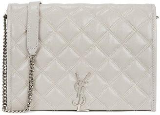 Saint Laurent Becky Medium Grey Leather Shoulder Bag