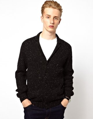Ben Sherman Plectrum By V Neck Cardigan With Rever Collar