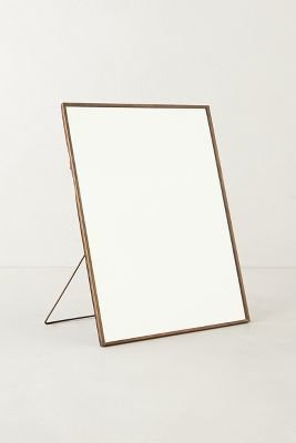 Anthropologie Copper Easel Mirror