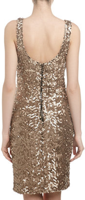 Laundry by Shelli Segal Sequin Tank Dress, Nude