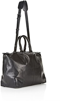 Alexander Wang Prisma Skeletal Satchel In Soft Black With Matte Black