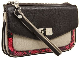 BCBGMAXAZRIA Canvas Clutch (Natural pink) - Bags and Luggage
