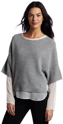 Robert Rodriguez Women's Layered Crop Pullover Sweater
