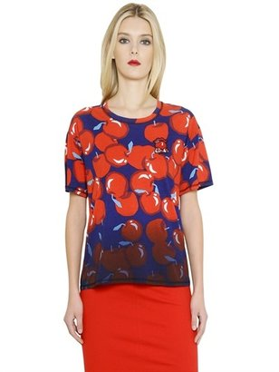 Sonia Rykiel Oversized Apple Printed Cotton T-Shirt