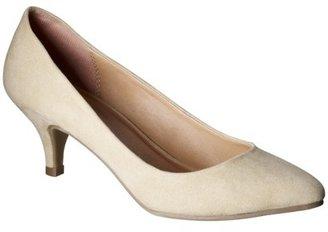 Merona Women's Maren Kitten Heel Pumps - Natural