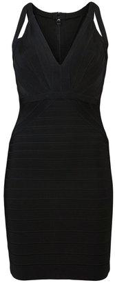 Herve Leger Dema fitted dress