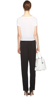 Alice + Olivia Rolled Sleeve Front Pocket Tee