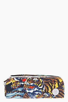 Kenzo Yellow Flying Tiger Zippered Cosmetic Clutch