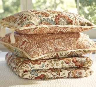 Pottery Barn Cora Kalamkari Whole Cloth Reversible Quilt & Sham