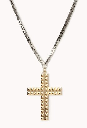 Forever 21 Edgy Cross Necklace