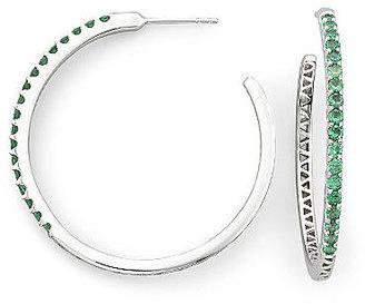 JCPenney FINE JEWELRY Lab-Created Emerald Hoop Earrings