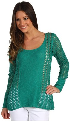 Lucky Brand Miranda Mixed Stitch Sweater (Alhambra) - Apparel