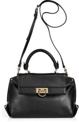 Salvatore Ferragamo Black Small Sofia Crossbody Bag