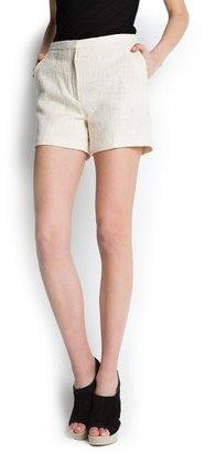MANGO Bouclé shorts