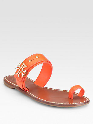 Tory Burch Elina Textured Leather Sandals