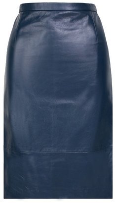 Tibi Leather Pencil Skirt
