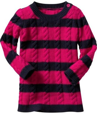 Gap Rugby striped cable knit sweater dress
