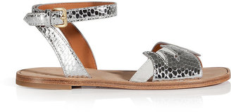 Marc by Marc Jacobs Embossed Leather/Suede Sandals