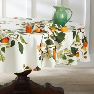 Williams-Sonoma Botanical Persimmon Tablecloth