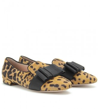Miu Miu ANIMAL PRINT SLIPPER STYLE LOAFERS