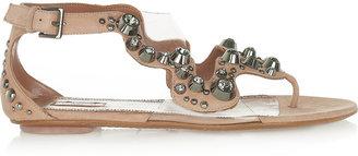 Alaia Crystal-embellished suede sandals
