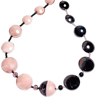 Antica Murrina Audrey 2 Color Block Murano Glass Necklace $122 thestylecure.com