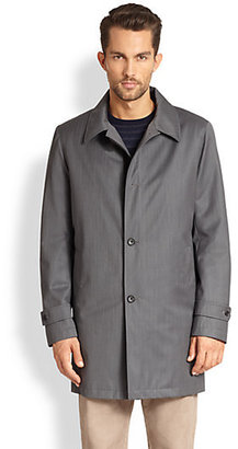 Saks Fifth Avenue Collection Solid Overcoat