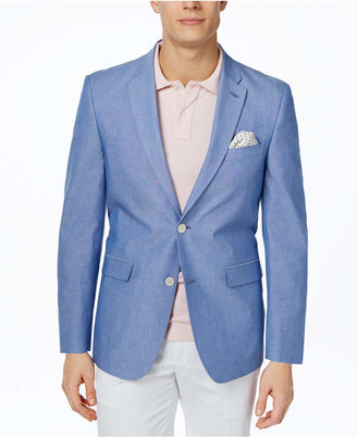 Tommy Hilfiger Chambray Extra Slim-Fit Sport Coat $295 thestylecure.com