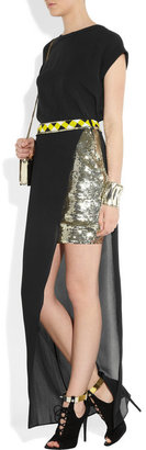 Sass & Bide Take a Hike double-layered sequin and georgette skirt