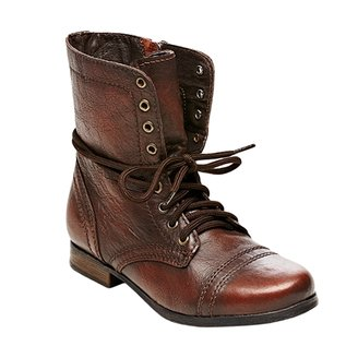 Steve Madden Girl's Troopa Distressed Boot - Brown