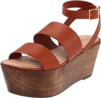 Elizabeth and James Women's Bax Flatform Sandal, Cayenne Leather, 10 M US