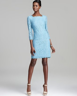 Adrianna Papell Lace Dress - Three Quarter Sleeve