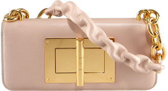 Tom Ford Natalia Maxi Chain East-West Shoulder Bag, Nude