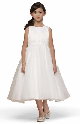 Us Angels Beaded Satin Sleeveless Dress