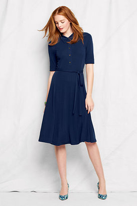 Lands' End Women's Petite Knit Matte Jersey Dress