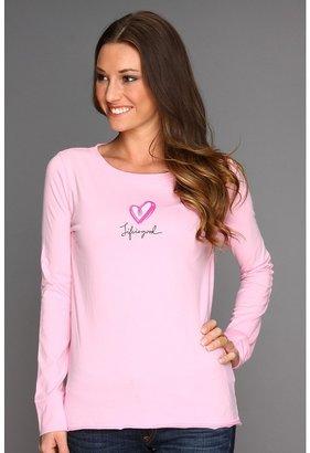 Life is Good Heart Slumber Sleep Top (Petal Pink) - Apparel
