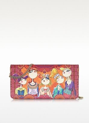 Moschino Charming Printed Eco Leather Wallet Clutch