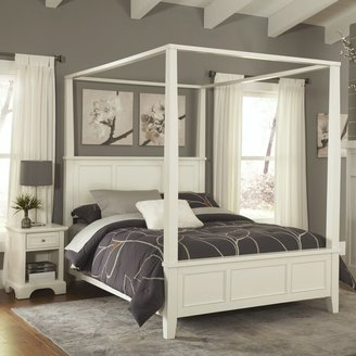 Home Styles Naples Queen Canopy Bed and Night Stand