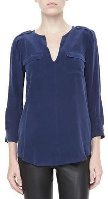 Joie Marlo Two-Pocket Blouse