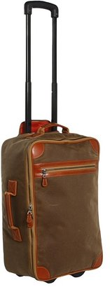 Mulholland Brothers - International Wheeled Carry-on (Tan Waxed Canvas) - Bags and Luggage
