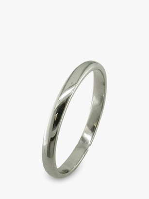 E.W Adams Platinum 2.5mm Court Wedding Ring, Platinum