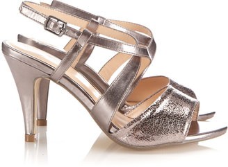 Wallis Pewter Mid Heel Sandal