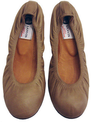 Lanvin Leather Ballet In Light Brown