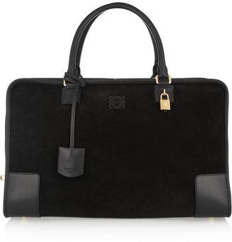 Loewe Amazona leather and suede weekend bag