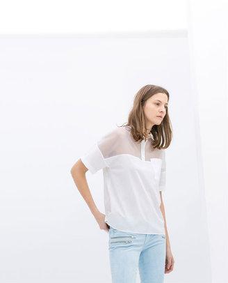Zara Organza Polo Shirt