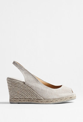 Castaner Light Grey Bel Peeptoe Espadrille