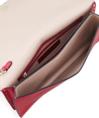 Valentino Rockstud All-Around Flap Wristlet Clutch Bag, Pink