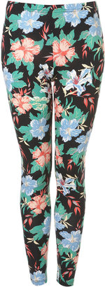 Topshop Petite Tropical Floral Legging
