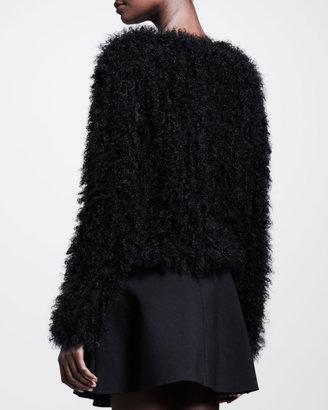 Thakoon Mongolian Fur Pullover Sweater